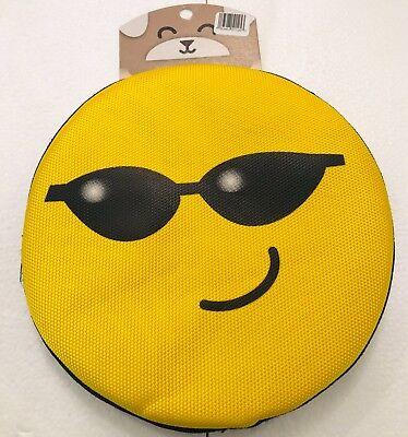 PET EMOJI FETCH FLYING DISK.Flying Disc Floating Frisbee Dog Fetch Toy. SMILE