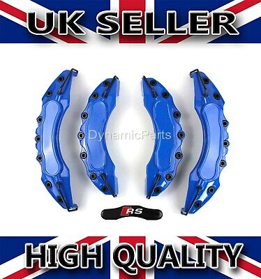 BRAKE CALIPER COVERS SET KIT FRONT AND REAR FOR AUDI A3 A4 A5 BLUE ABS (RS)