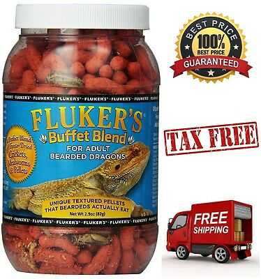 Fluker's Buffet Blend Food Adult Bearded Dragons Dry Cricket Pellet w/ Vitamins