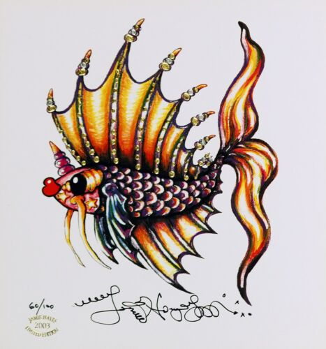 LEFT FACING  PUCKER FISH  Jamie Hayes beta koi ART SIGNED LIMITED EDITION