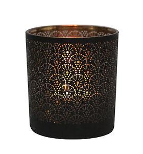 Table-TECH-GRANADA-CRISTAL-VOTIVO-Portavelas-negro-cobre-Vela-Decoracion-Regalo