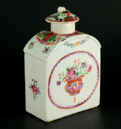 ~~1735-1796 QIANLONG Qing Chinese Fine Porcelain Tea Caddy Famille Rose Mandarin