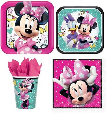 Minnie Mouse Birthday Party Express Pack for 8 Guests (Cups Napkins & - Minnie Mouse Napkins