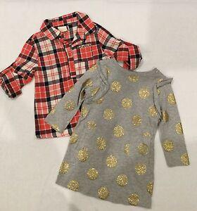 2 x Girls Cotton on Kids Dresses - Shirt Dress / Slip on Dress Size 1 Keswick West Torrens Area Preview