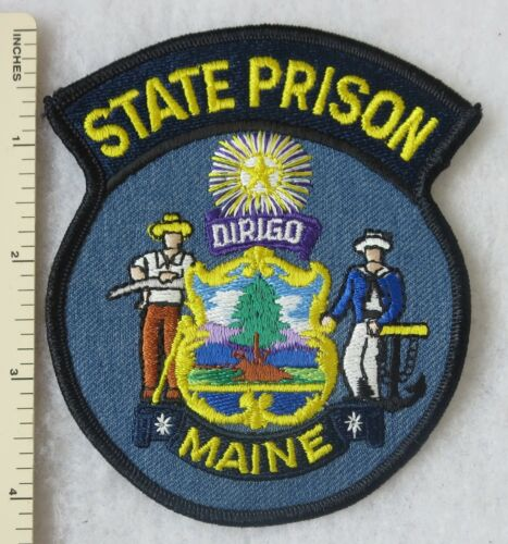 MAINE STATE PRISON POLICE PATCH Vintage ORIGINAL