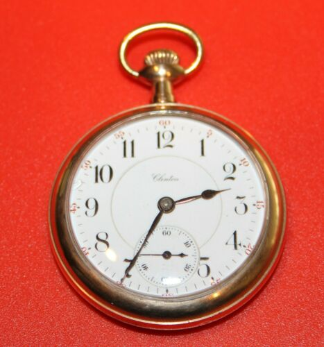 Vintage ILLINOIS Clinton 17J 16S GRADE 305 Pocket Watch - WORKING