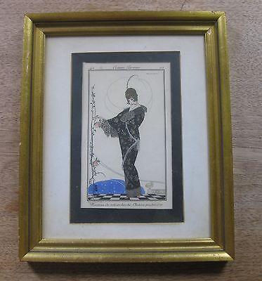 BRUNELLESCHI -  1914 COSTUMES PARISIENS - #146 framed art-deco - Paris fashion