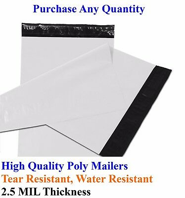 25-5000 5 X 7 Poly Mailers Envelopes Plastic Shipping Bags Mailing 5x7 Inch