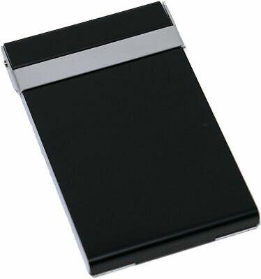 Vertical Slim Brushed Gunmetal Business Card Holder