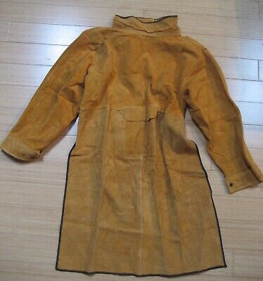 Leather Welding Coat Protective Apron Ping Guo Some Wear