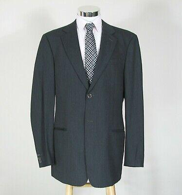 ARMANI COLLEZIONI 42 Long Gray Wool 2-Button Suit