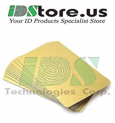 - 100 Gold Blank PVC Cards, CR80, 30 Mil, Graphics Quality, Credit Card size