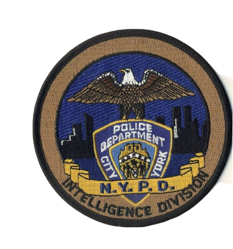 """NYPD Intelligence Division New York 4"""" Round Patch"""