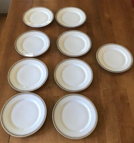 Greek Key Black White Background by HEINRICH - H&C Selb Set of 9 salad plates