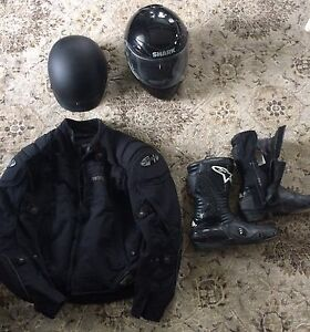 Jacket, Boots and Helmet