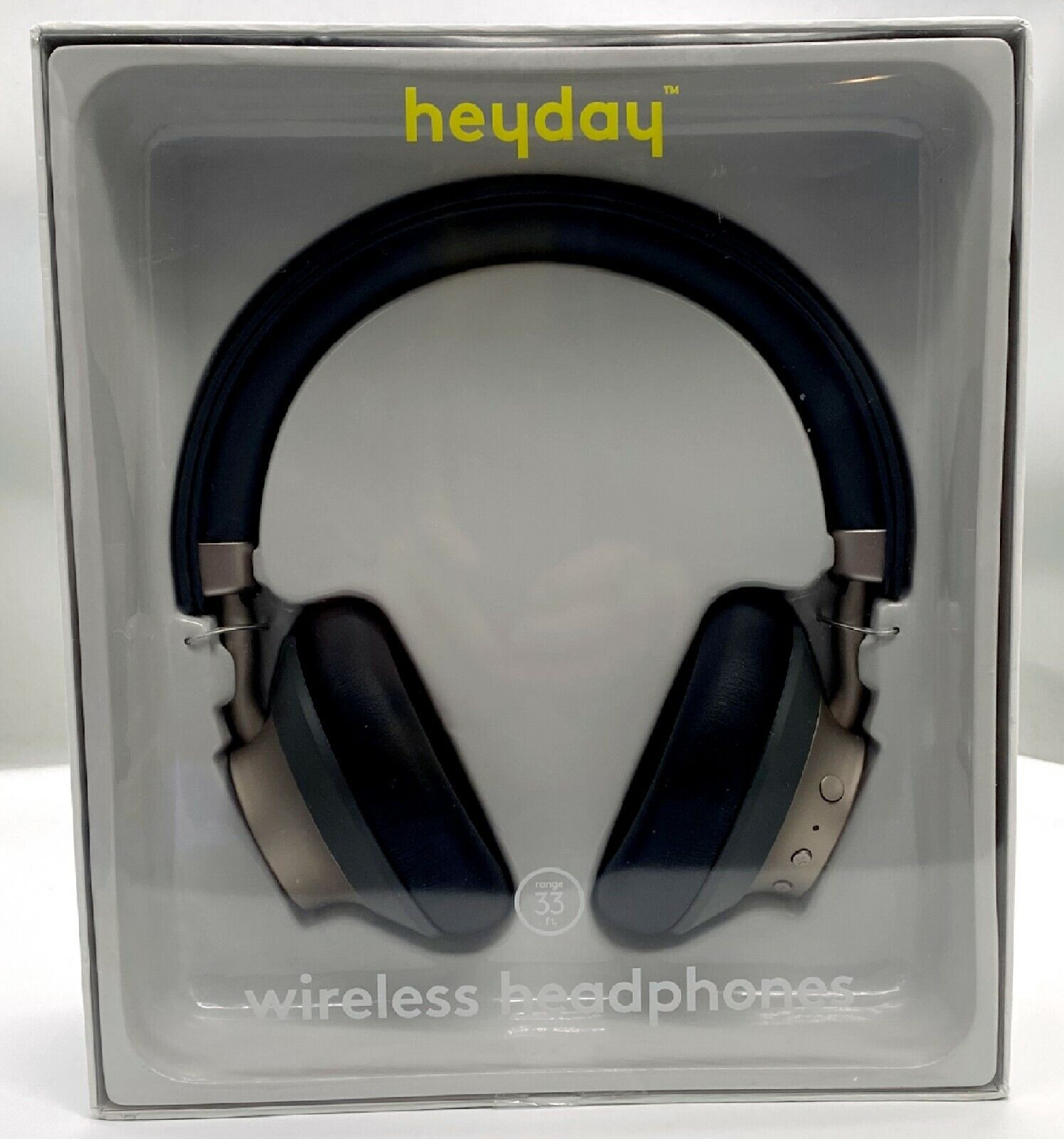 Heyday Wireless On-Ear Headphones Gray/Gold 53246707 New Bluetooth Microphone - $27.50