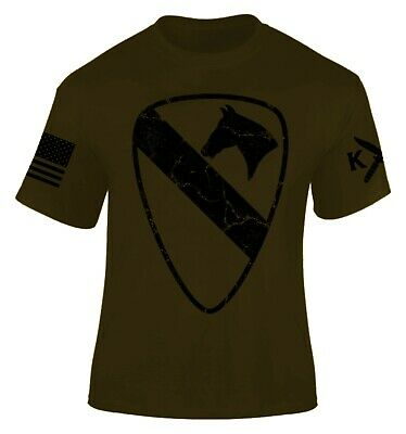 1st Cavalry First Team T-shirt - 1st Cavalry Division T-shirt I Patriot I Infantry I Veteran I First Team
