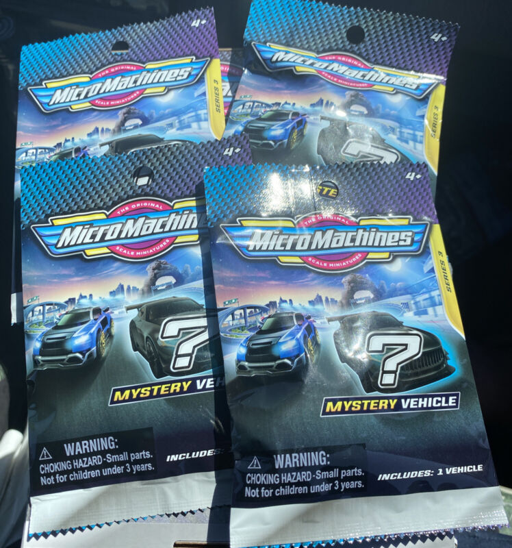 2021 Series 3 Brand New Sealed Lot Of 4 Micro Machines Mini Vehicle Blind Bags