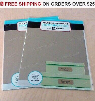 84 Ct. Martha Stewart Kraft Labels 1-516 X 4 Brown Address Mailing Inkjet