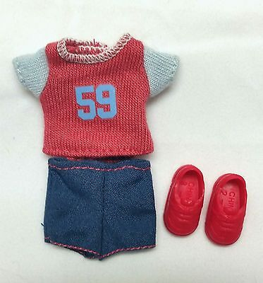 Barbie Kelly Tommy Doll Clothes Sports Outfit Shorts Set + Shoes Mattel New