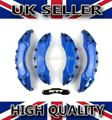 GOLF MK5 MK6 M7 GOLF GTI BRAKE CALIPER COVERS SET KIT FRONT & REAR BLUE ABS