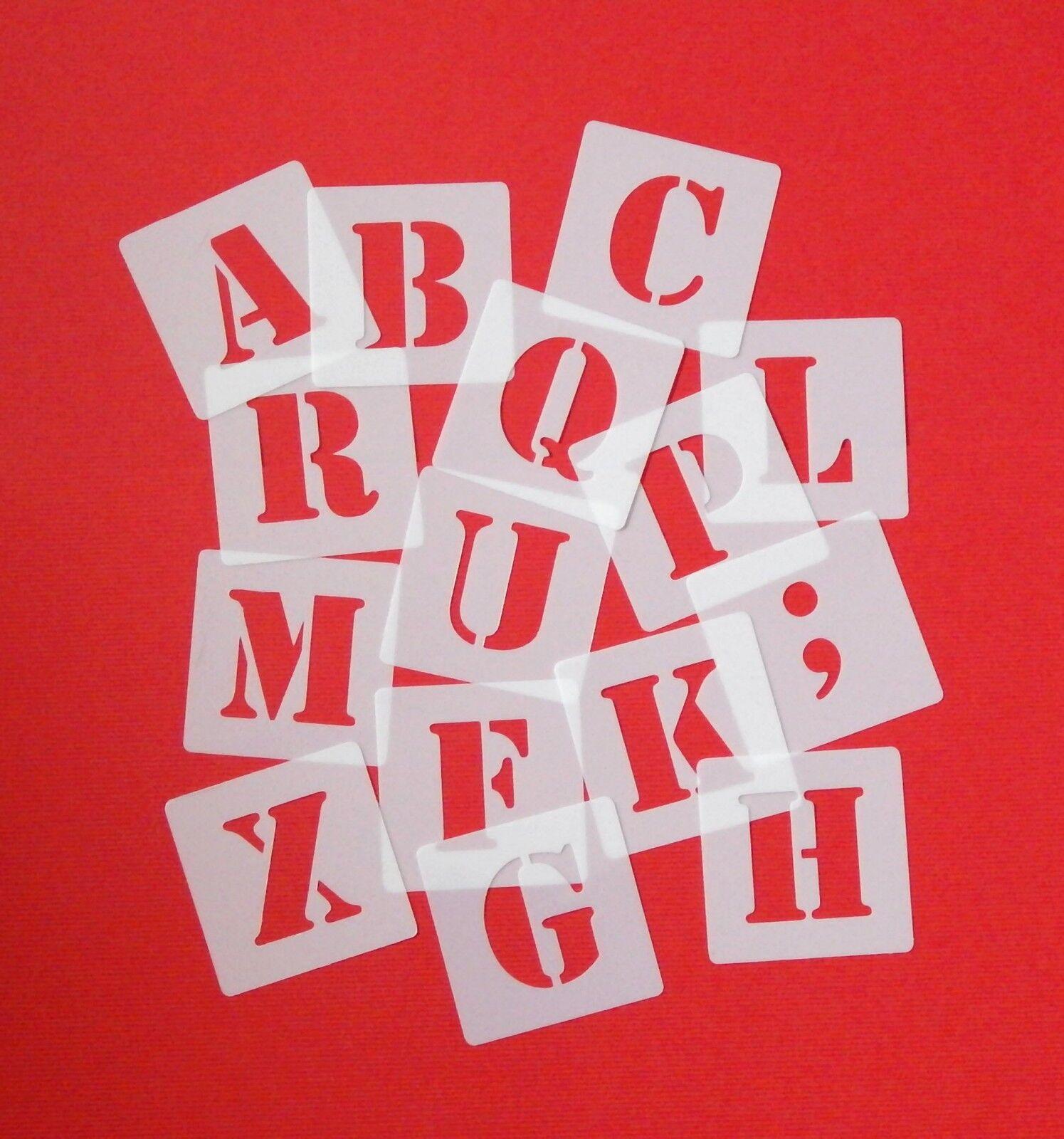 ABC Schriftschablonen 4cm hoch ● Set 30 einzelne Schablonen Buchstaben● Zeichen