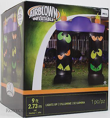 Gemmy 9 ft Lighted Halloween Eye Scream Archway Airblown Inflatable - Halloween Eye