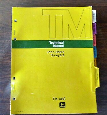John Deere Sprayers TM-1083 Technical Manual 1973