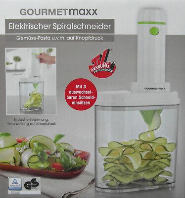 Gourmetmaxx Elektrischer Spiralschneider Gemüse Pasta auf Knopfdruck Neu online kaufen