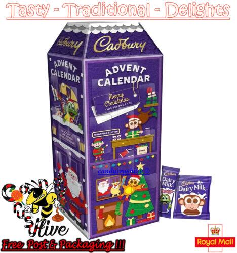 Cadbury+3D+Chocolate+Advent+Calendar+Christmas+Xmas+Santa+Countdown+Kids+308g