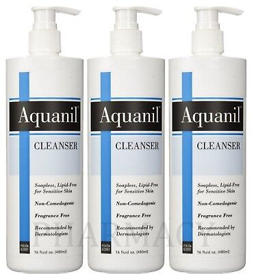Aquanil Cleanser Pump 16 oz ( 3 Bottles )*** Cleanser 16 Ounce Bottle