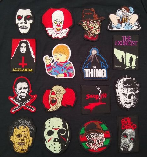Horror Movie Patches Freddy Kruger Jason Michael Myers It  Chucky Exorcist Thing