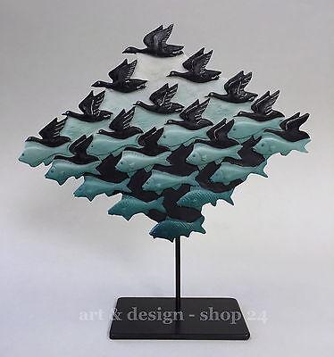 """M. C. ESCHER Skulptur  """"AIR AND WATER - LUFT UND WASSER"""" Parastone Museums Figur"""