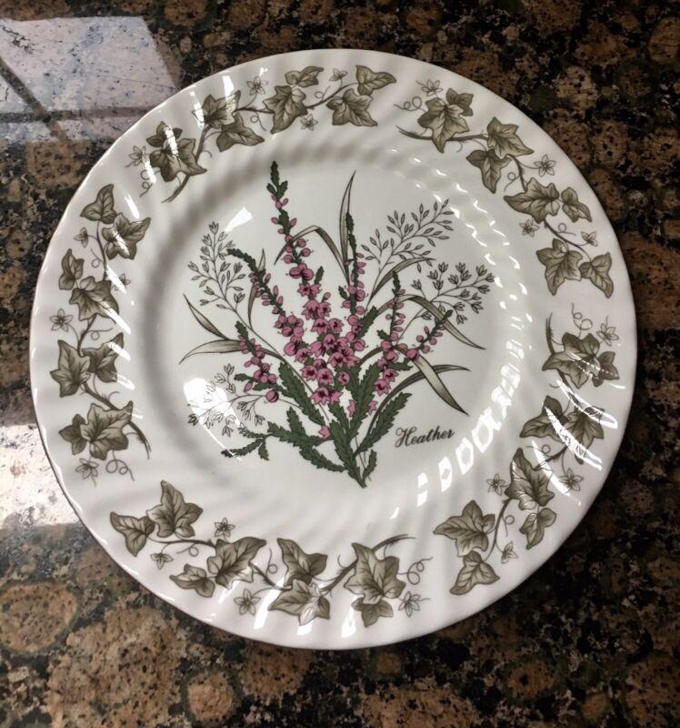 "Flower of Scotland, St. Andrews Pottery, Bone China 9.5"" HEATHER Plate"