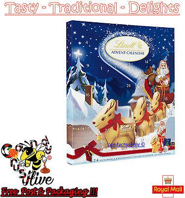 Lindt Chocolate Advent Calendar Christmas Xmas Santa Countdown Children Fun 160g