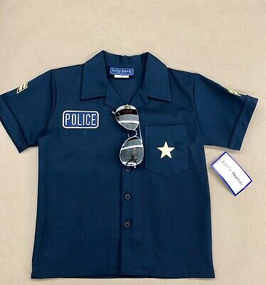 Kids Police Shirt  with UV Sunglasses. Made In (Police Sunglasses Usa)