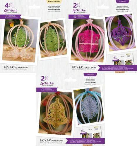 NEW 2021 Gemini 3D Christmas Ornaments Collection by Crafters Companion