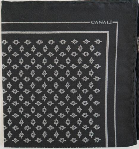$95 NWT CANALI Italy 100% SILK JACQUARD Pocket Square Handkerchief