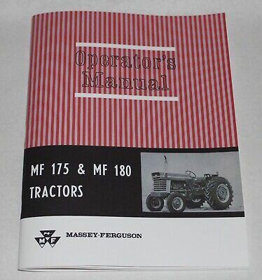 Massey Ferguson Mf 175 And Mf 180 Tractor Operators Owners Manual 1964-1975