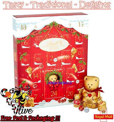 Lindt Bear Teddy Chocolate Advent Calendar Christmas Xmas Countdown Kids 250g