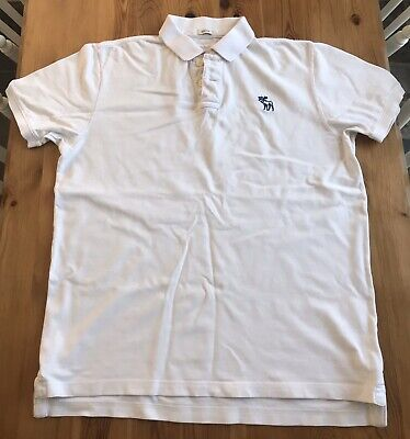 Abercrombie & Fitch Muscle Fit Men's Polo Shirt Size XXL White, Good Condition