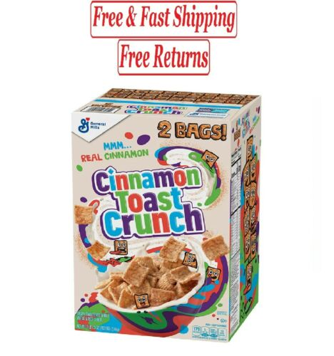 Cinnamon Toast Crunch Cereal (49.5 oz., 2 pk.) FREE N FAST SHIPPING