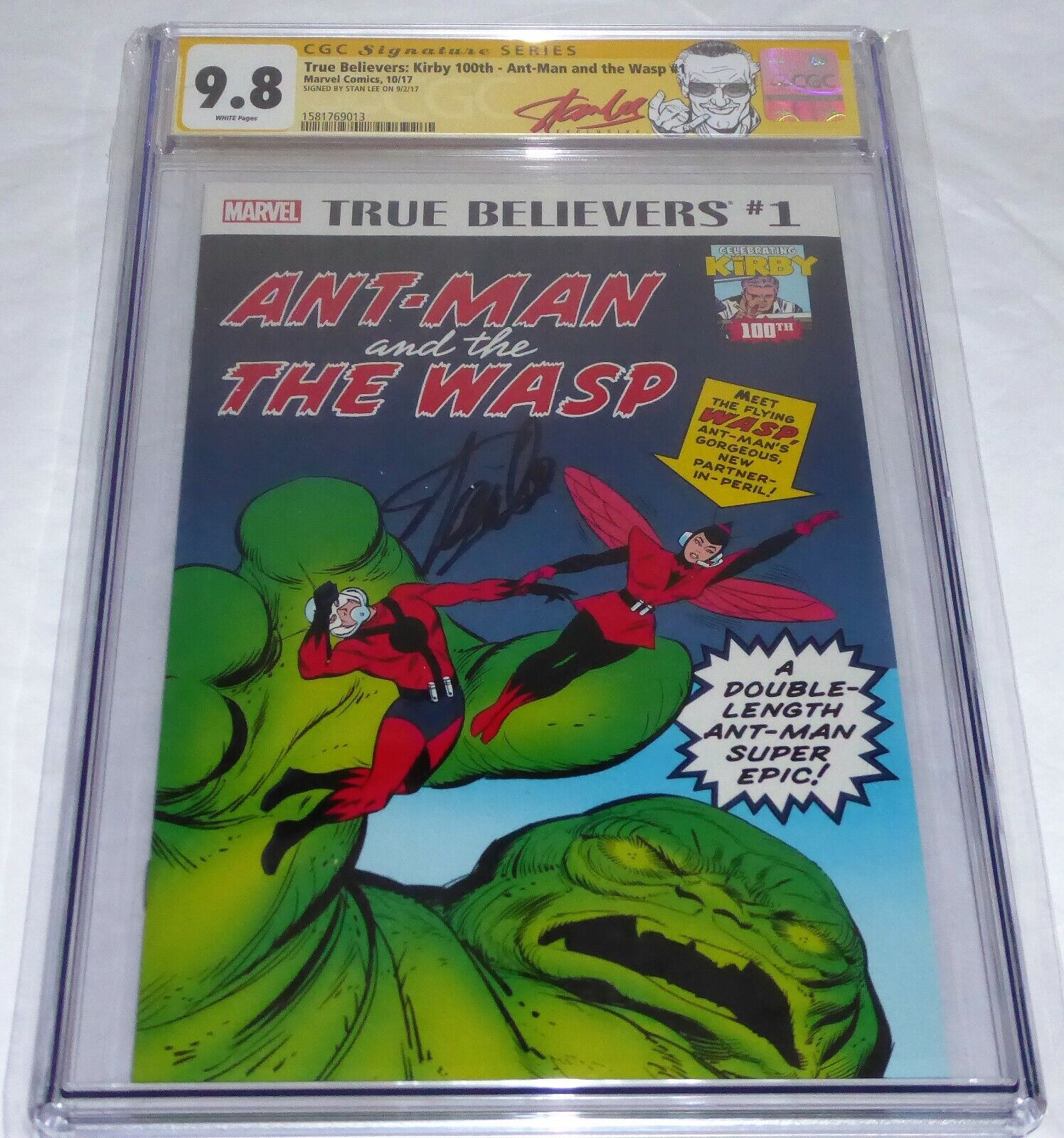 True Believers Kirby 100th Ant-Man Wasp #1 CGC SS 9.8 Autograph STAN LEE Signed