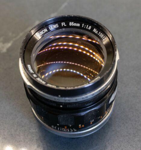 CANON FL 85mm f/1.8 Lens - Exceptional Bokeh