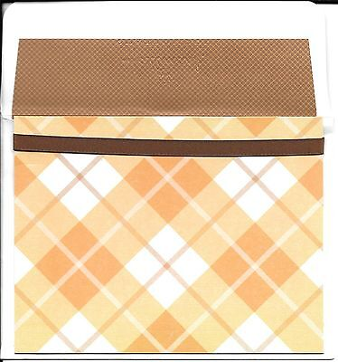 Orange and Brown Argyle Note Cards By Hallmark Stationery - Set of 10