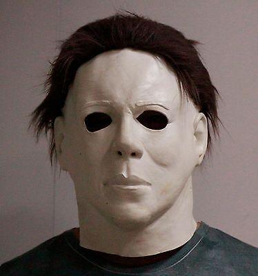 Michael Myers Halloween-kostüme (Michael Myers Maske Latex Ganzer Kopf Halloween Luxus Erwachsene Größe Kostüm)