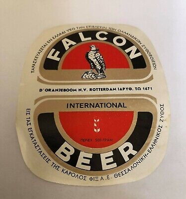 VINTAGE & RARE GREEK PRODUCED IN GREECE FALCON BEER ΚΑΡΟΛΟΣ ΦΙΞ LABEL 1960s