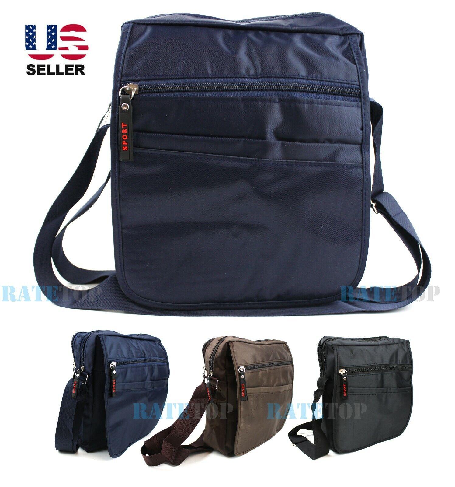 Mens Nylon Waterproof Crossbody Messenger Shoulder Bag Satchel Sport Travel Work Bags