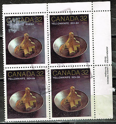 Canada Yellowknife Gold Discovery stamps block 1984