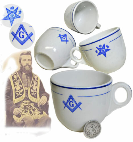 antique Masonic - Lodge Hall Coffee Cup